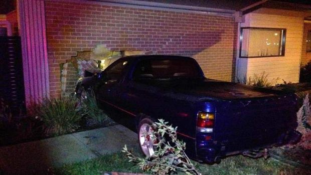 Drink drive warning... a 20-year-old man crashed his ute into a house in Harrison on Saturday.