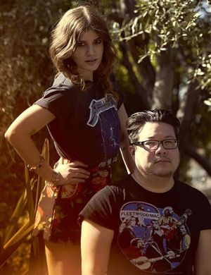 Best Coast band members Bethany Cosentino and Bobb Bruno.