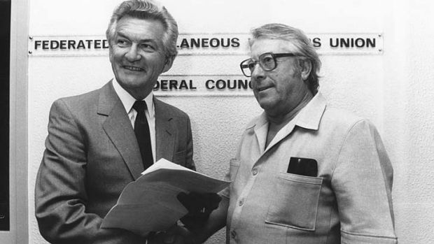 Determined … Ray Gietzelt in 1984. He became the general secretary of the FMWU in 1955.