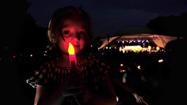 Georgia Maconachie, 5, of Weston, at the Christmas Carols in Commonwealth Park.