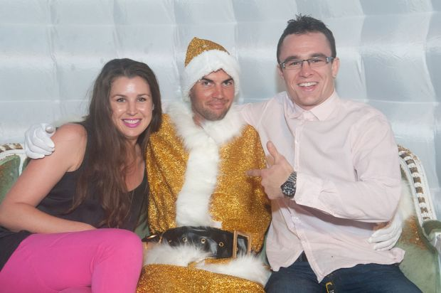 Alisha Hunt, Santa and Wes Capper.