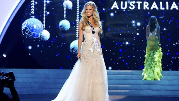 Third runner-up in the Miss Universe competition, Renae Ayris.
