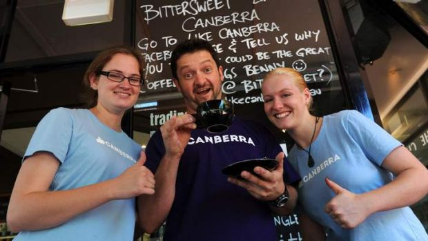 They like ... Bittersweet owner Tim Geelan and staff Julia Cain and Tyranny Schubert giving the thumbs up to the Like ...
