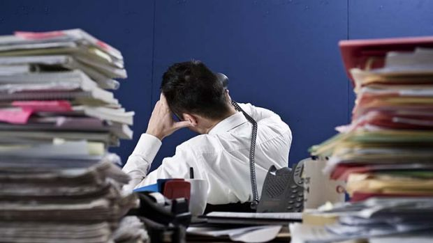 Seasonal stress ... people are overloaded, disatisfied and increasingly anxious in the workplace.