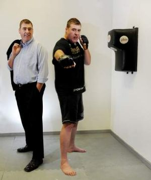 Andrew Machin ... public servant by day, MMA fighter by night.