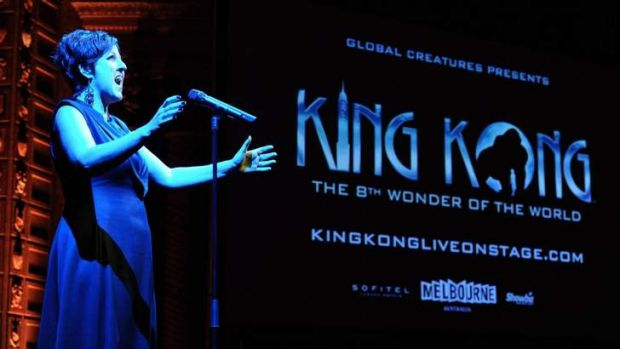 Queenie Van De Zandt at the launch of <i>King Kong</i>.