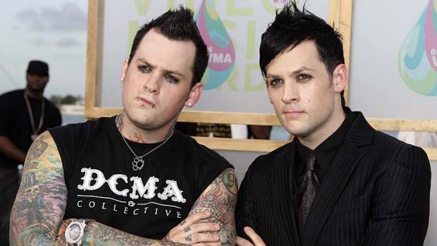 Finger-licking promoters ... the Madden brothers, Benji and Joel from the band Good Charlotte.