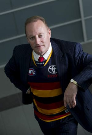 Distraction: Crows chairman Rob Chapman.