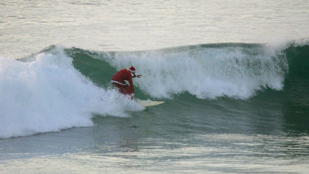 The beaches will be manned by lifeguards on Christmas Day, if Santa wants to go for a surf.