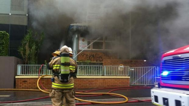 A fire at a commercial building at South Brisbane.