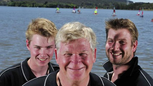Canberra's Cooke family - Ian, centre, with sons Nick, left, and Michael - will contest the Sydney to Hobart.