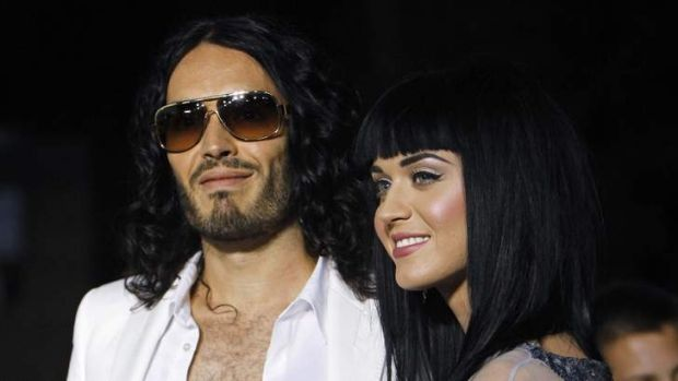 Russell Brand with Katy Perry.