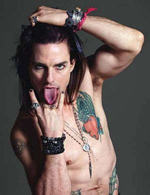 Tom Cruise as Stacee Jaxx in <i>Rock of Ages</i>.