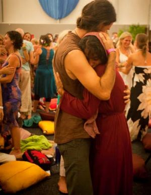 No end in sight … people celebrate ''a consciousness revolution'' at the Uplift festival at Byron Bay.