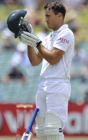 South Africa's Faf du Plessis ensured that the drawn Test in Adelaide would be a nail-biter.