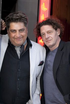 Matt Preston and Marco Pierre White at Cellar Bar Grand Opening.