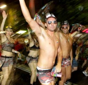 Partygoers at the 2012 Sydney Mardi Gras.