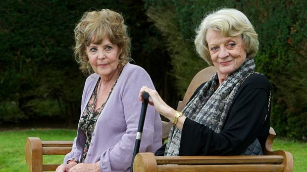 Diva dames … Pauline Collins and Maggie Smith.