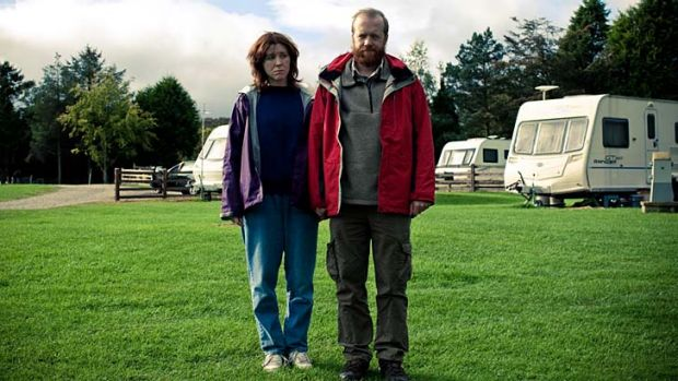 Bad travellers … Tina and Chris give caravans a bad name.