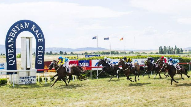 Gregory's Fortress, ridden by Taylor Lovelock-Wiggins, wins the Tony Campbell Memorial race at Queanbeyan on Sunday.