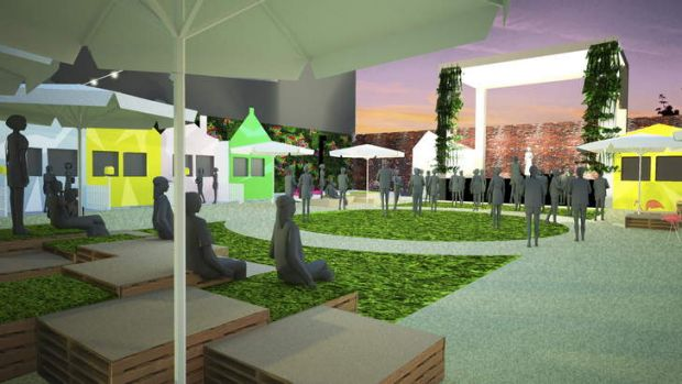 The Melbourne Recital Centre's carpark will be transformed for the Garden Party.