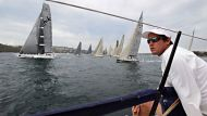 Yachting Gallery 98ft supermaxi, Lahana, in Race 1 of the CYCA-Trophy Passage Series. This weekends racing is the vital ...