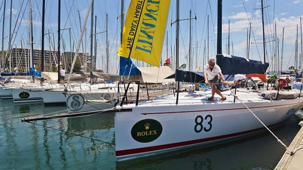 Crews prepare for the Sydney to Hobart yacht race which begins on Boxing Day.