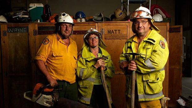 Like being a fighter pilot … the rapid aerial response crews include Doug Pritchard, Vanessa Richardson and Nic ...