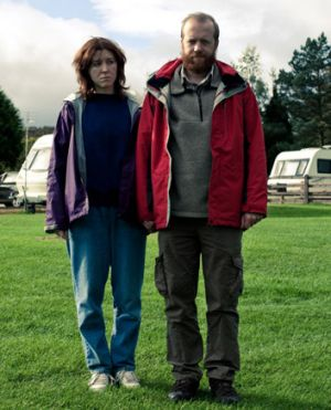 Tina (Alive Lowe) and Chris (Steve Oram) in <em>Sightseers.</em>