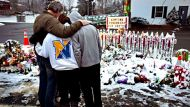 A somber show of support in Newtown (Video Thumbnail)