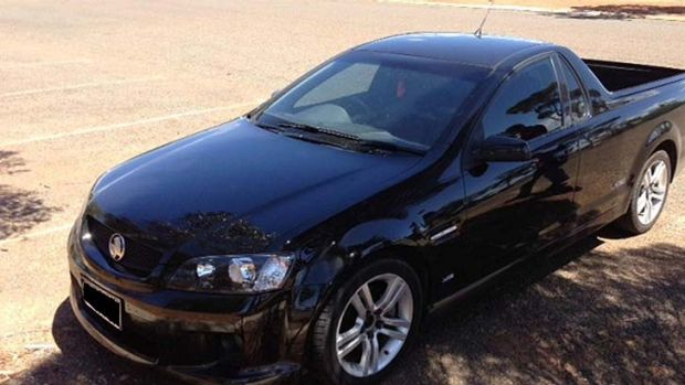 The Holden Commodore impounded by Goldfields police on Wednesday.