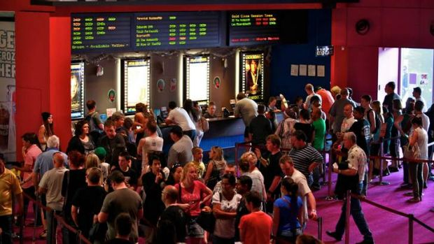 Boxing Day crowds at Knox City's Village multiplex.