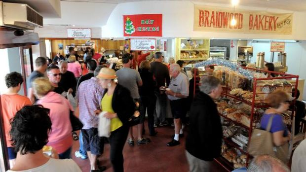 Employees at Braidwood Bakery had a frantic day as holidaymakers made the trek to the south coast on Boxing Day.
