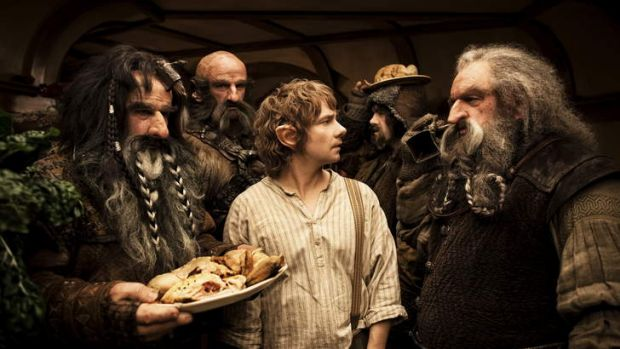 The Hobbit. Bilbo Baggins, middle (Martin Freeman)