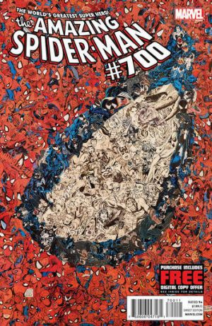 The cover of the 700th and final issue in the comic book series <i>The Amazing Spider-Man</i>, issued Wednesday, Dec. ...