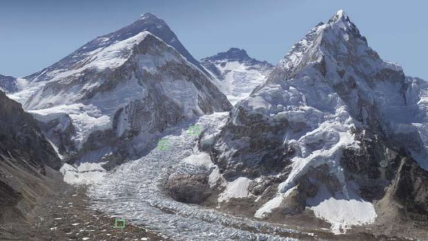 Massive scale ... the Everest image is a composite of 477 separate photographs.