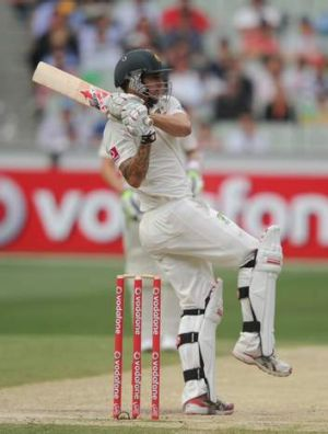 Australia's Mitchell Johnson is in a position to chase a Test ton at the MCG.