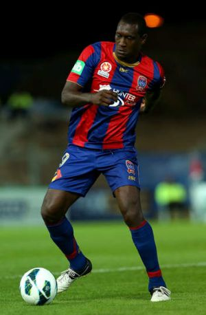 ... Emile Heskey of the Newcastle Jets.