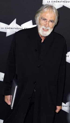 Michael Haneke ... the Austrian director poses prior to the premiere screening of his movie <i>Amour</i>.