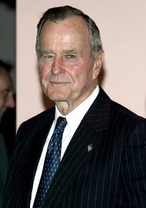 Not dead ... former US President George Bush snr.