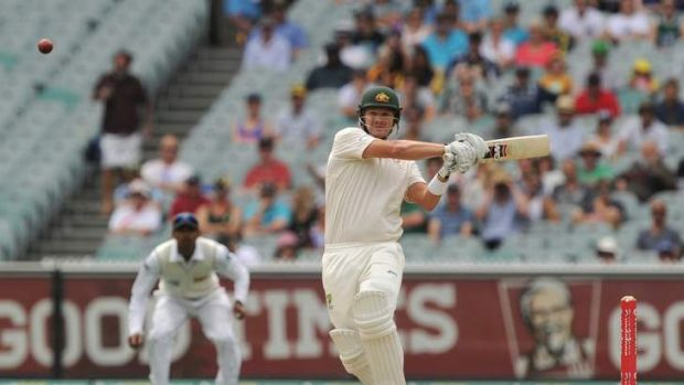 Shane Watson punishes the ball during the second day of the Boxing Day test.