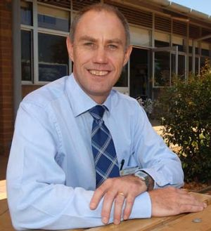 Raised the bar … Dubbo principal Richard Skinner.