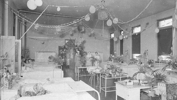 Baby nurturers … midwives in the 1940s at the Royal Hospital for Women, which is celebrating 100 years of prenatal ...