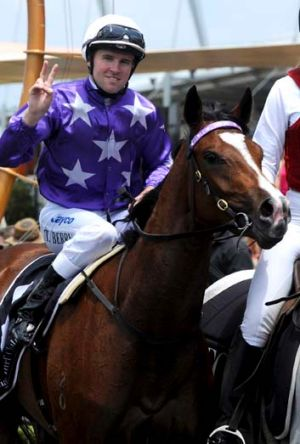 Contender … Tommy Berry on Certitude after winning at Rosehill last month.
