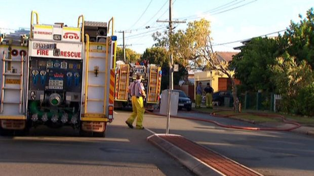 The scene of a fire at a Margate house neighbours say was once home to the Bee-Gees.