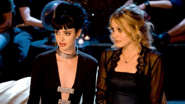 Krysten Ritter and Alicia Silverstone as the immortal undead in <i>Vamps</i>.