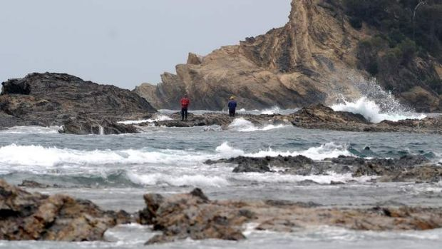 These rock fisherman at Malua Bay triggered an emergency response this morning. It later became clear the pair did not ...
