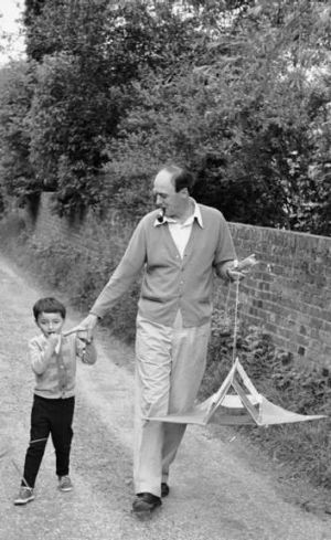 Rold Dahl and son.