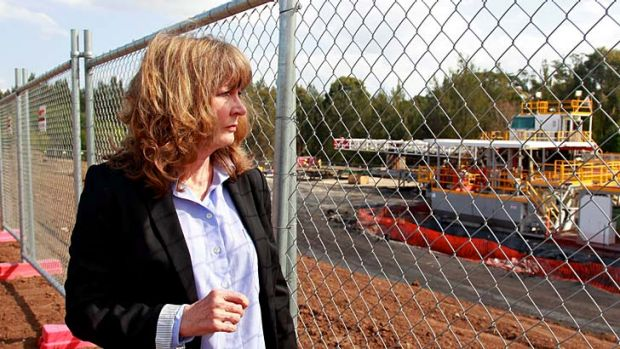 Distrust ... Jacqui Kirkby, from Scenic Hills Association, says residents are becoming more frustrated as AGL remains ...