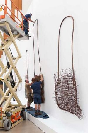 Installation of Lorraine Connelly-Northey's <i>10 Narbong</i>.